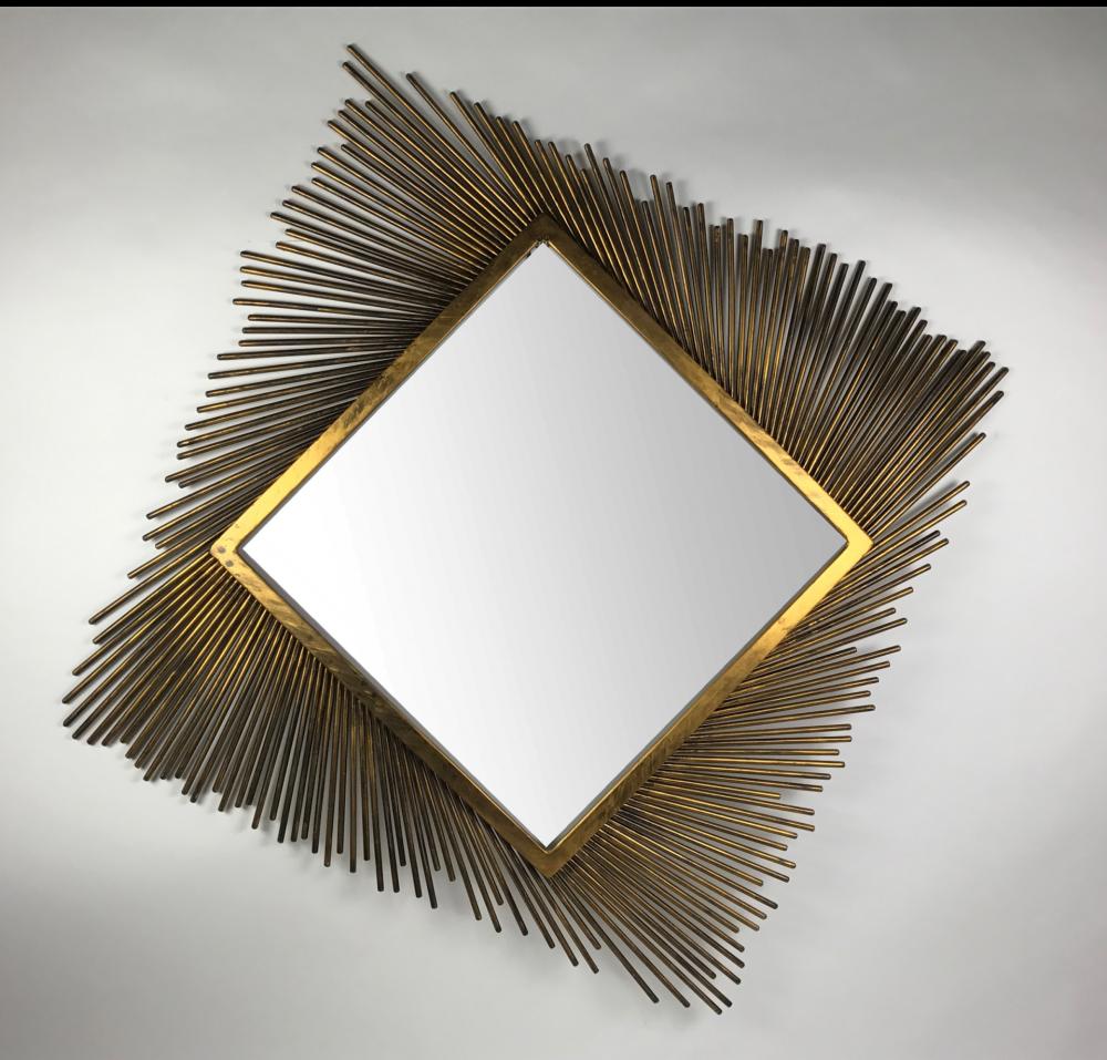 Fascio Mirror Antique Gold