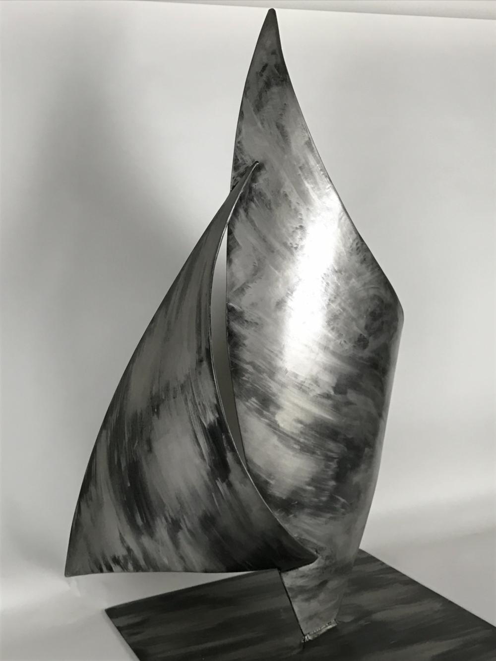 Metal Sail Sculpture