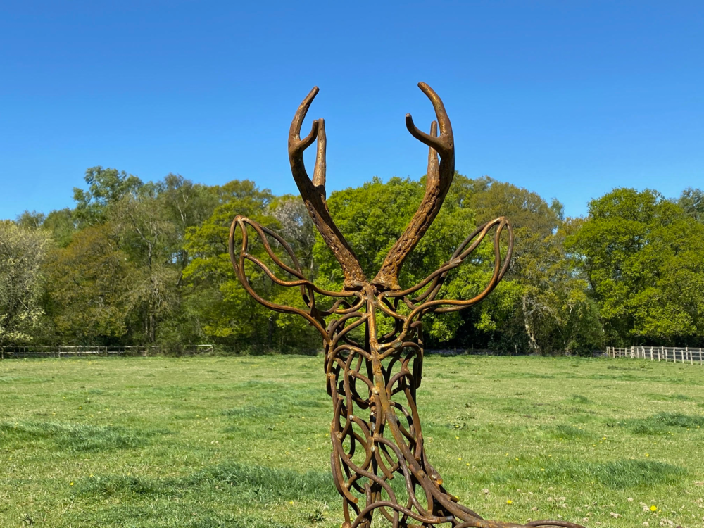Back of Stag Sculpture