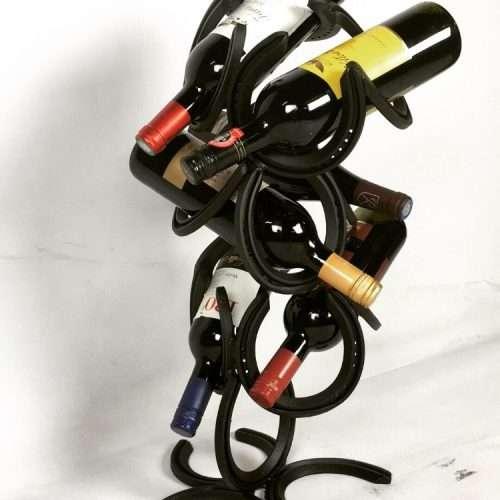 Horseshoe Wine Bottle Holder