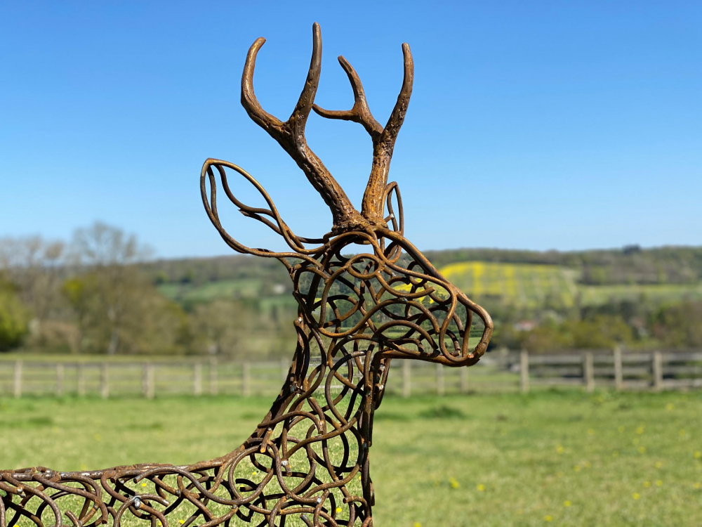 Face Of Stag Sculpture