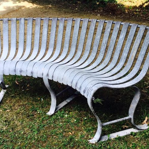 Silver Rustic Bench