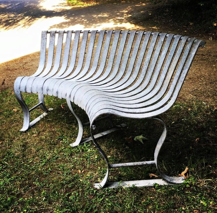 Rustic Curved Bench