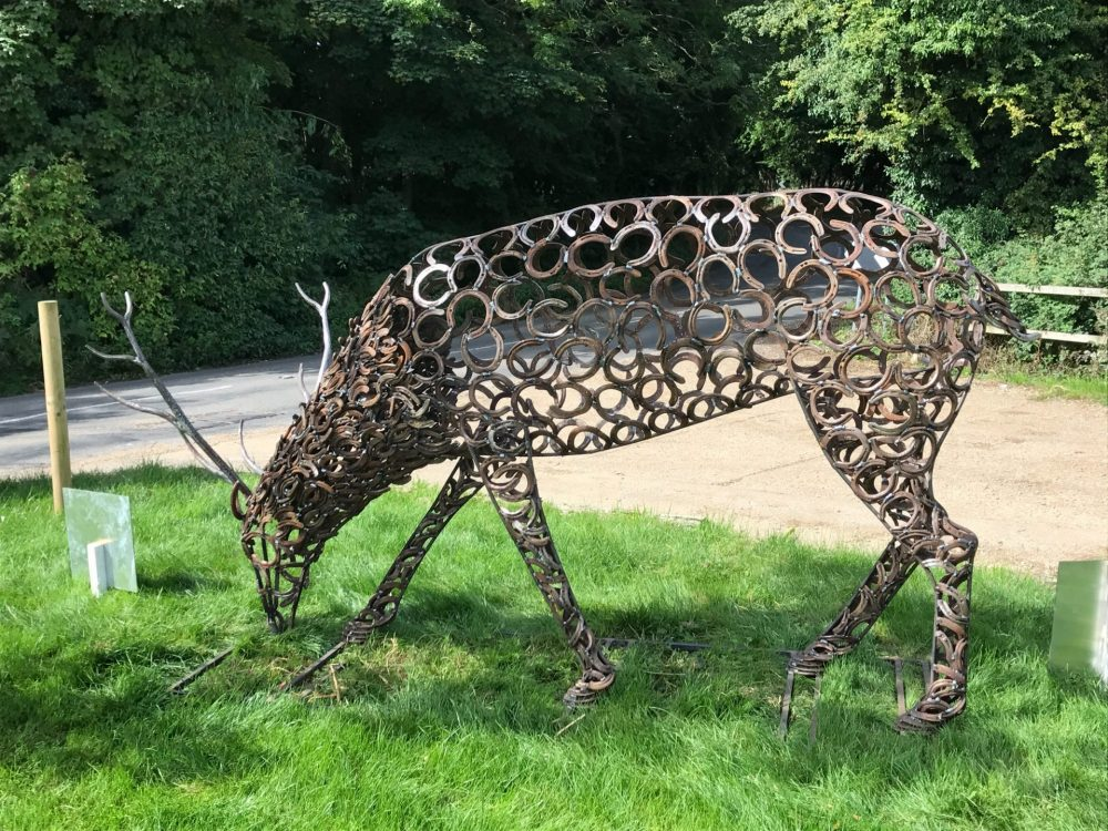 Upcycled Horseshoe Stag Sculpture