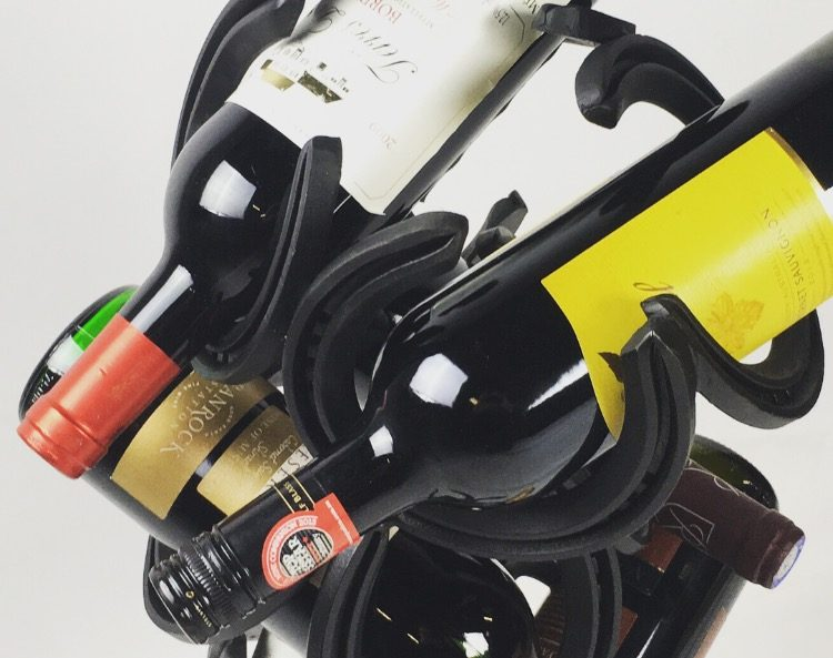 Horseshoe Wine Bottle Holder With Wine