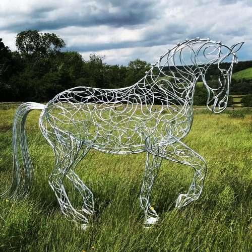 Horse Walking Sculpture