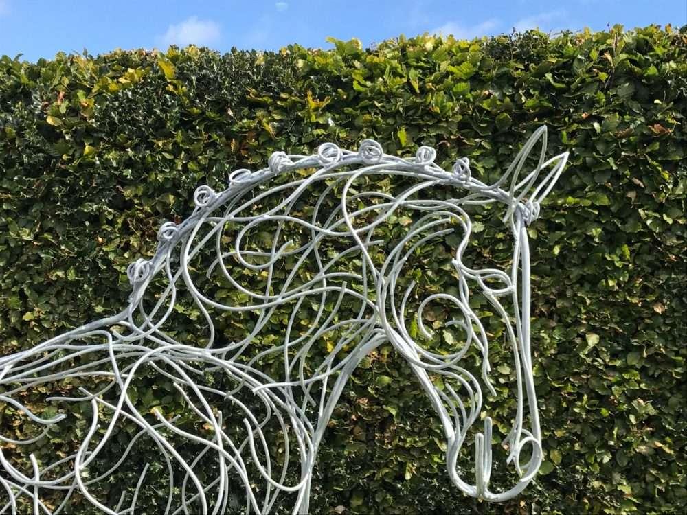 Top Of Horse Sculpture Head
