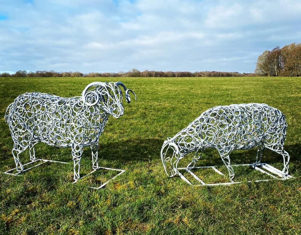 Ram Sheep Scultpure Flock