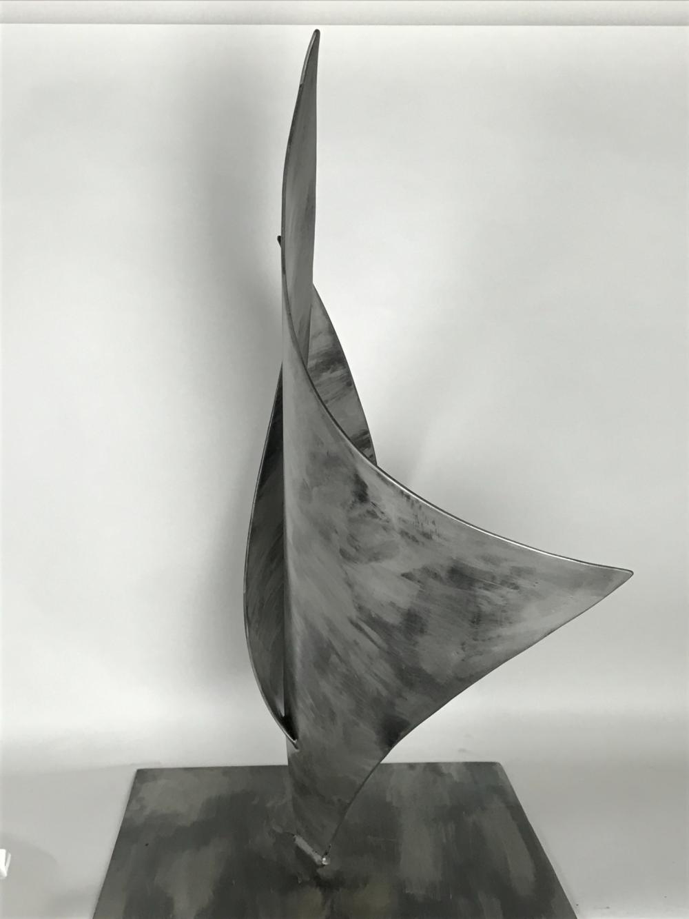 Side Of Metal Sail Sculpture