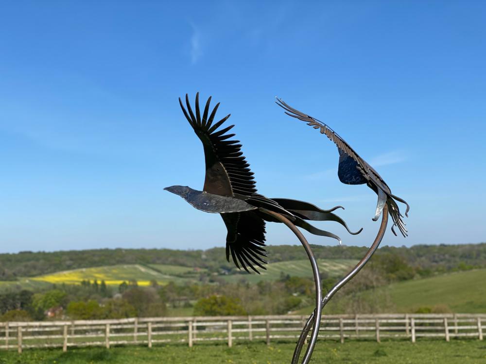 Birds Flying Sculpture
