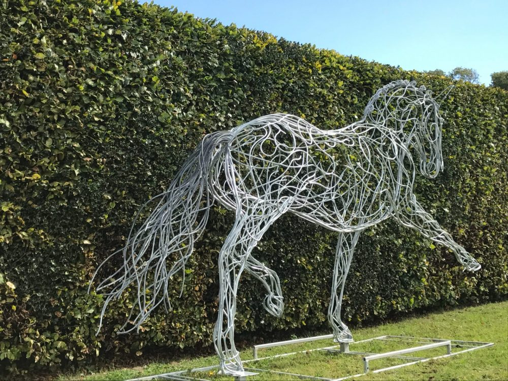 Back Of Pointed Horse Sculpture