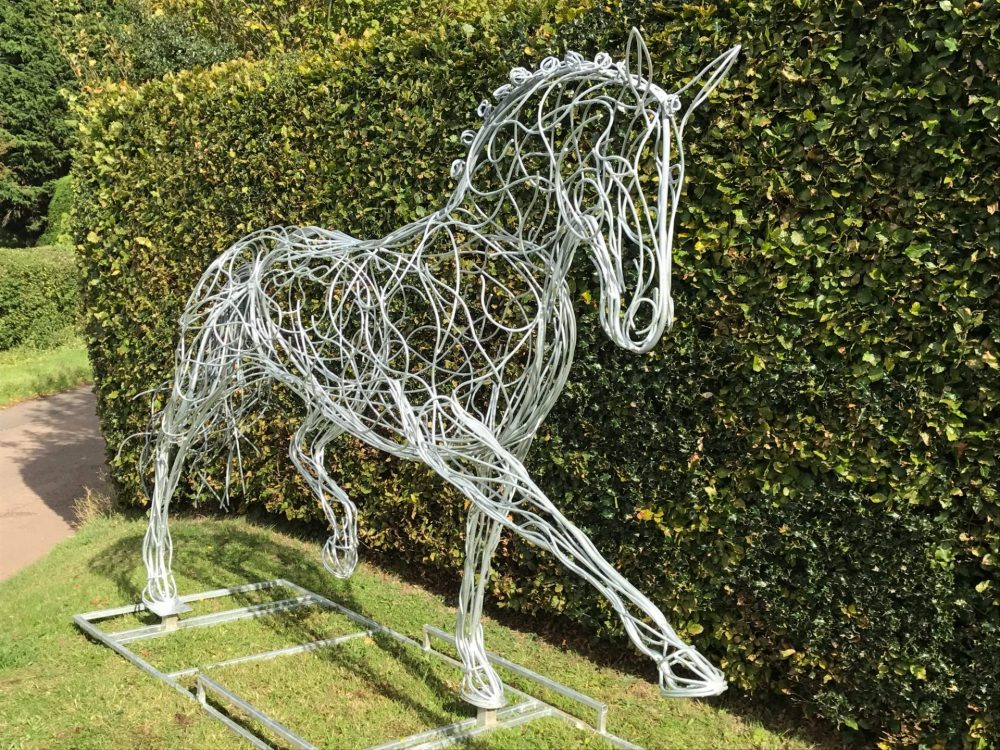 Horse Sculpture With Tied Hair