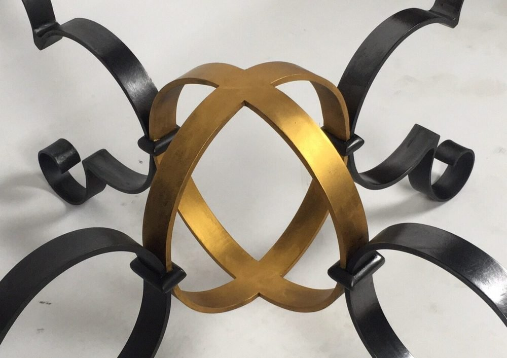Close Up Of Gold and Black Structure