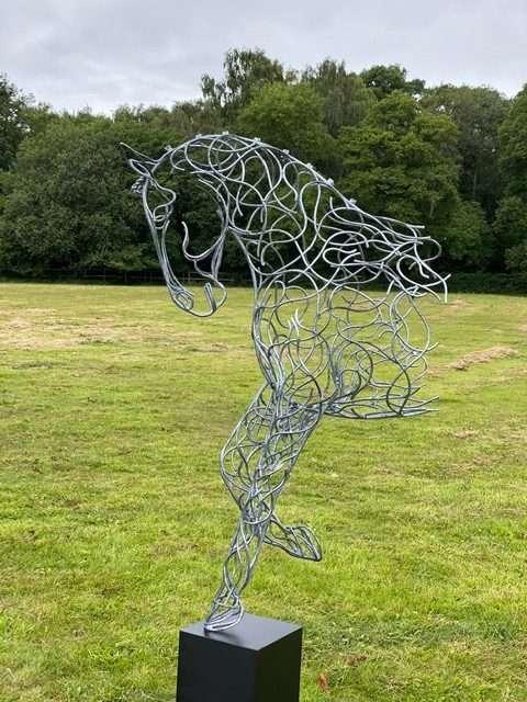 silver half horse design