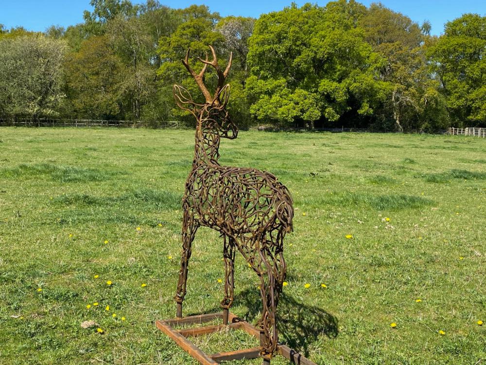 Bronze Stag Sculpture