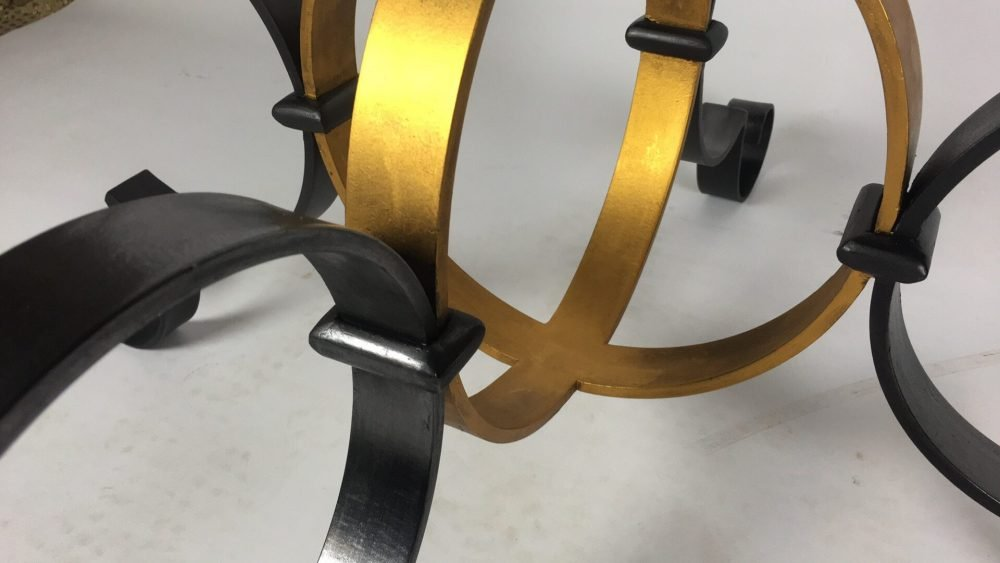 Painted Gold and Black Structure