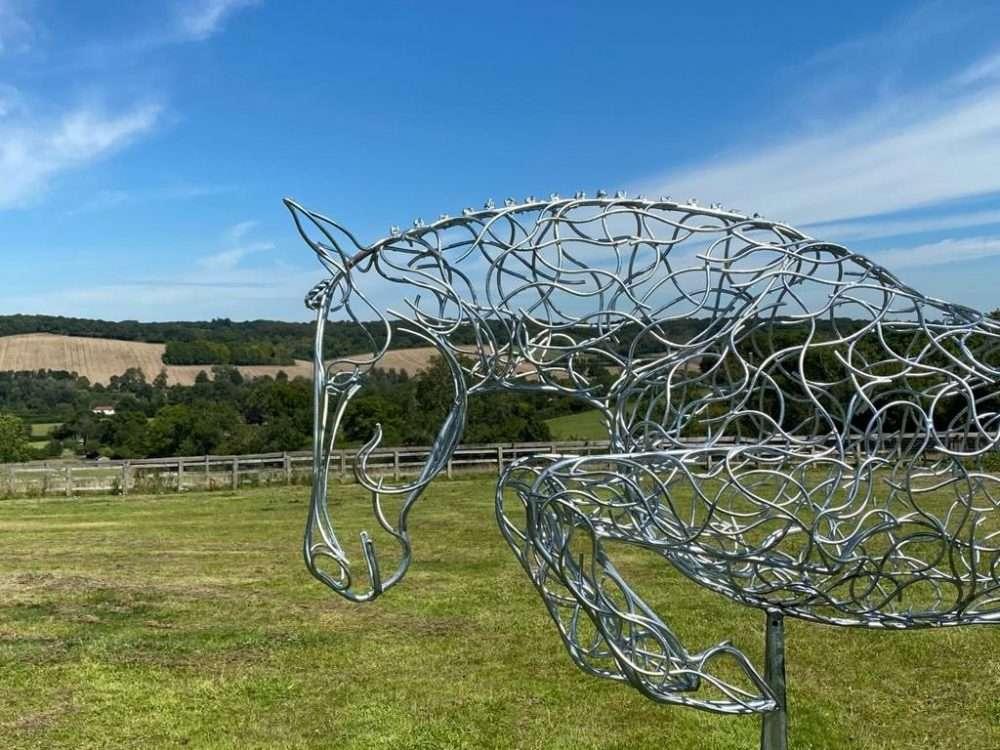 Jumping Horse Sculpture