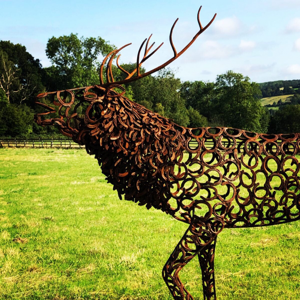 Bellowing Stag Sculpture