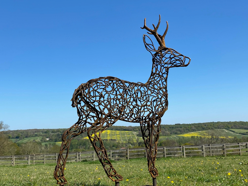 Rustic Stag Sculpture
