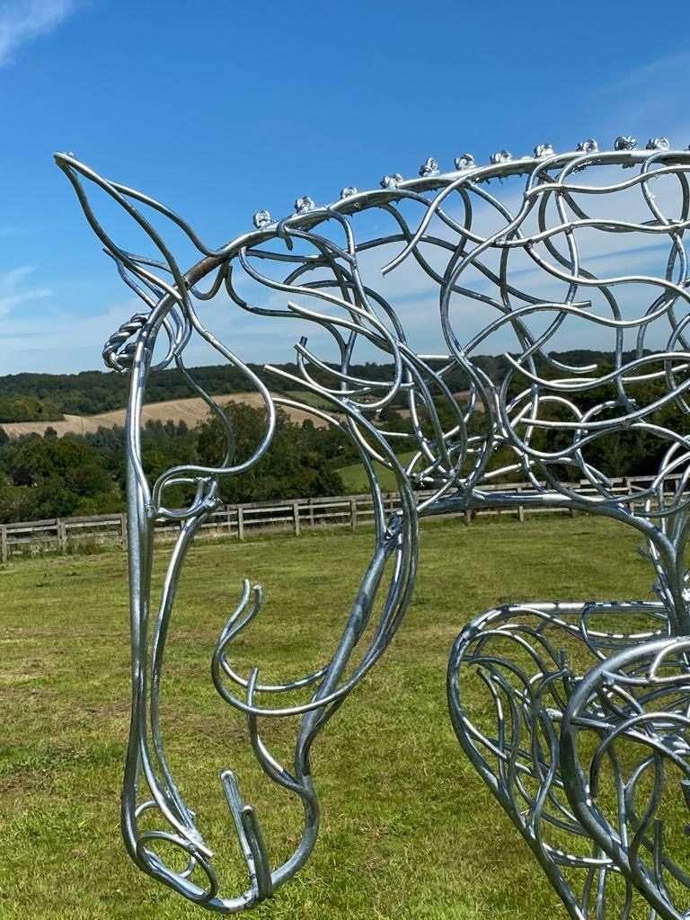 Jumping Horse head Sculpture View