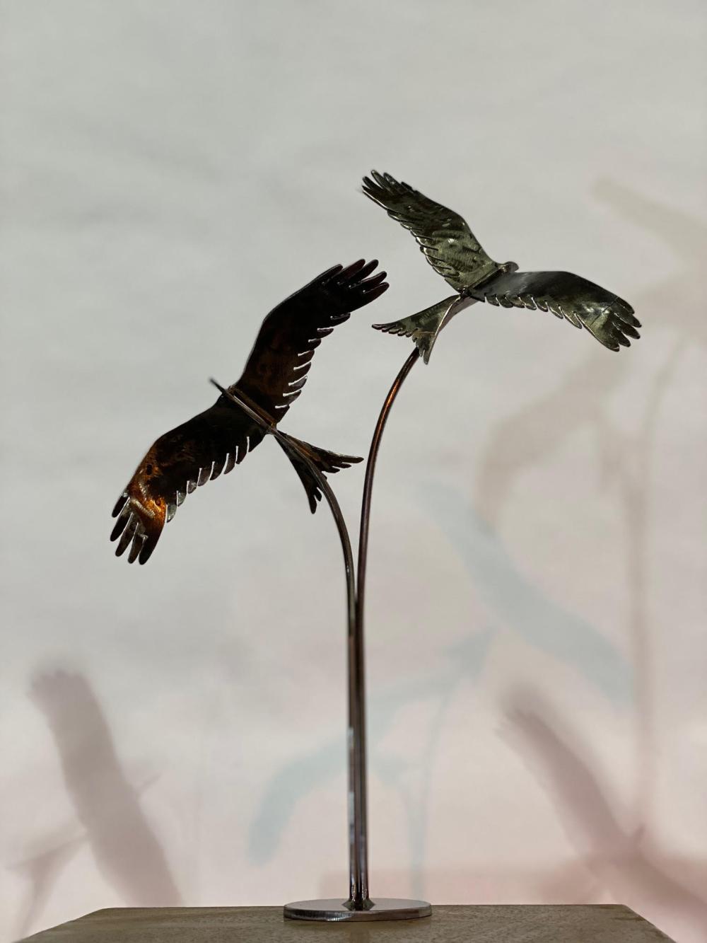 Birds Flying Table Top Sculpture