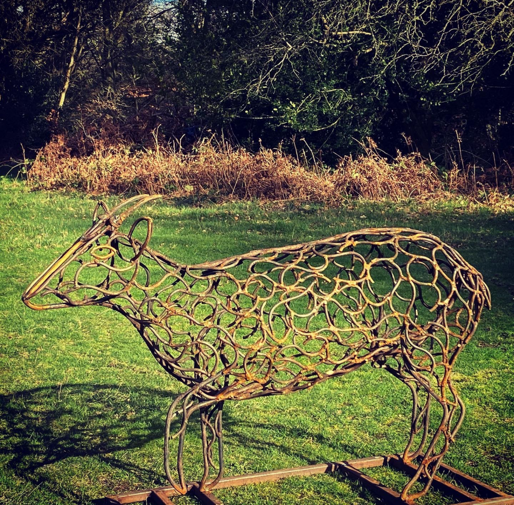 Muntjac Deer Sculpture