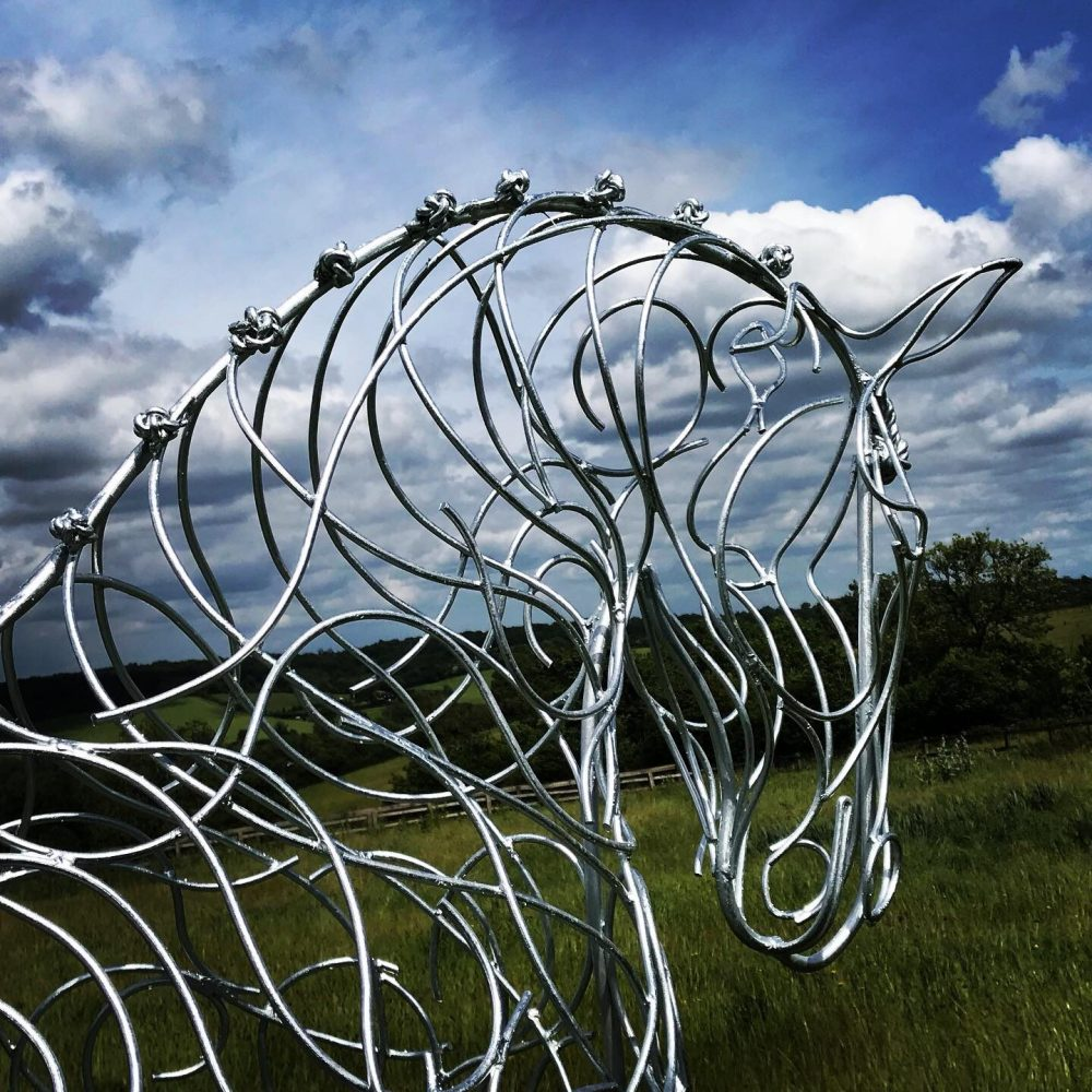 Head Of Horse Walking Sculpture