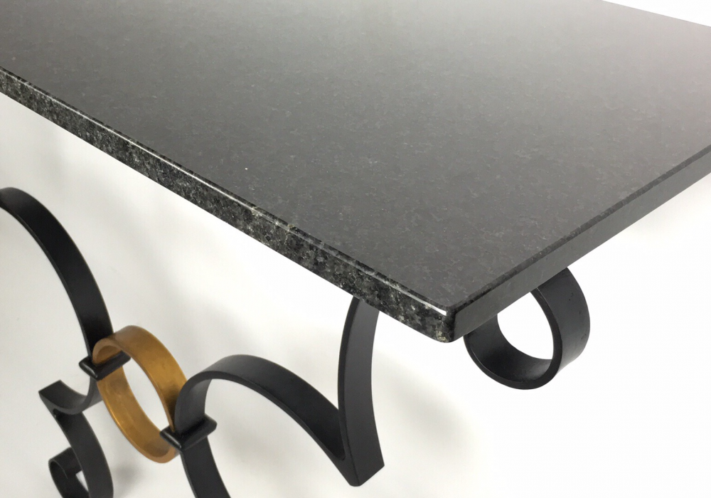 Noir et d'or Console Table