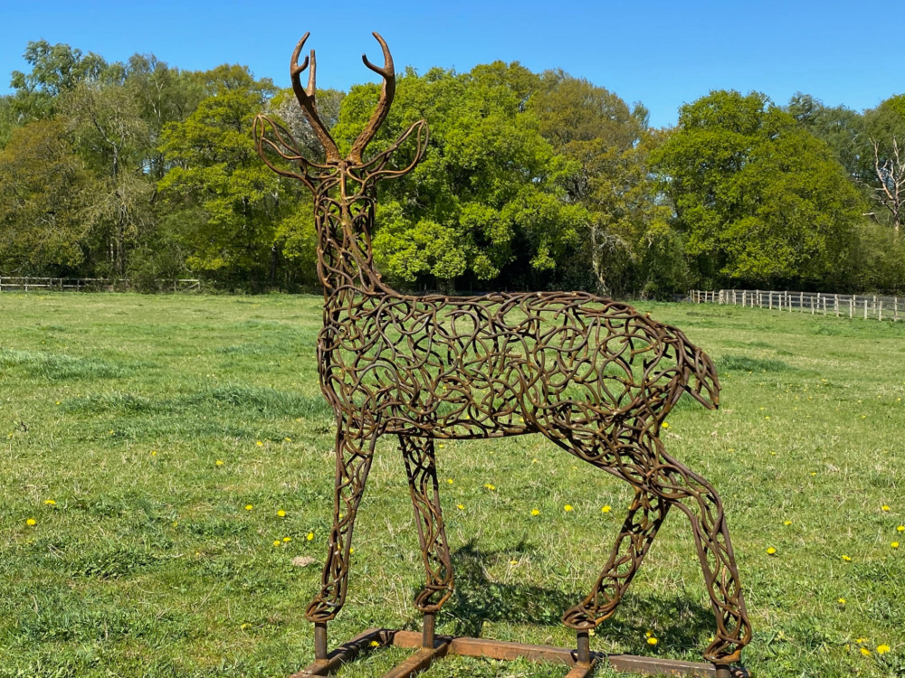 Back Of Stag With Antlers Sculpture