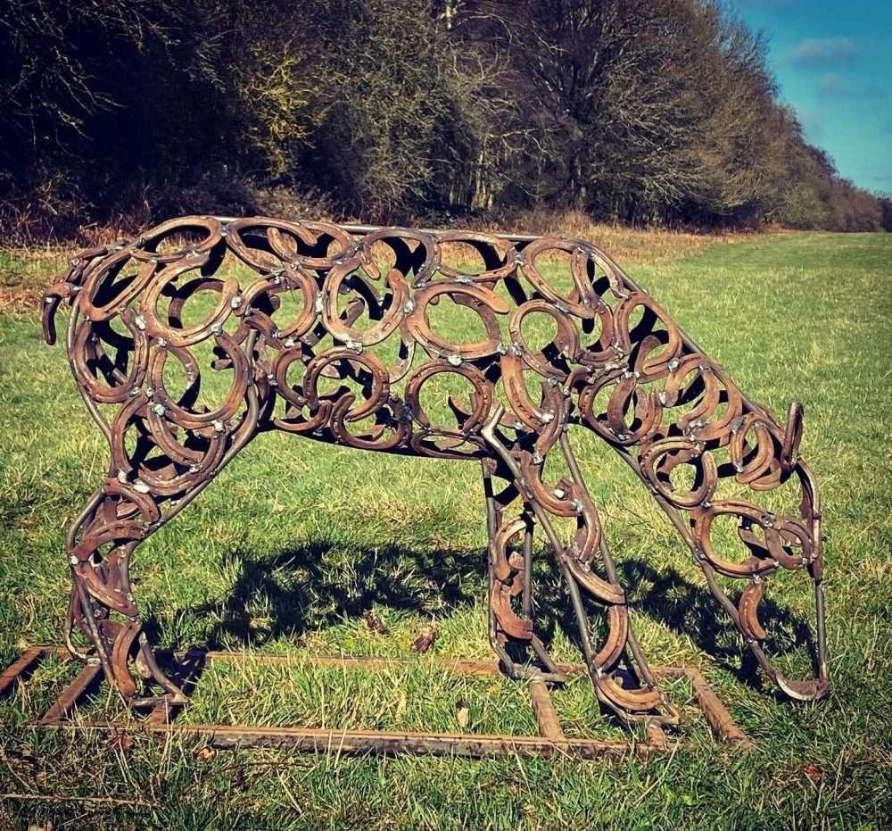Doe Sculpture Grazing