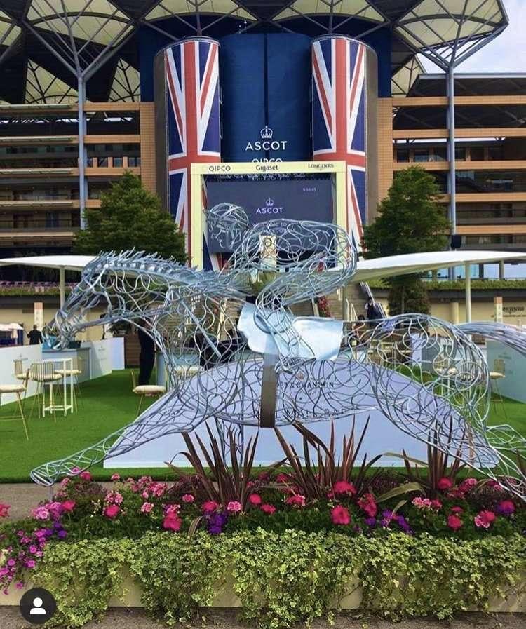 Racing Horse Sculpture