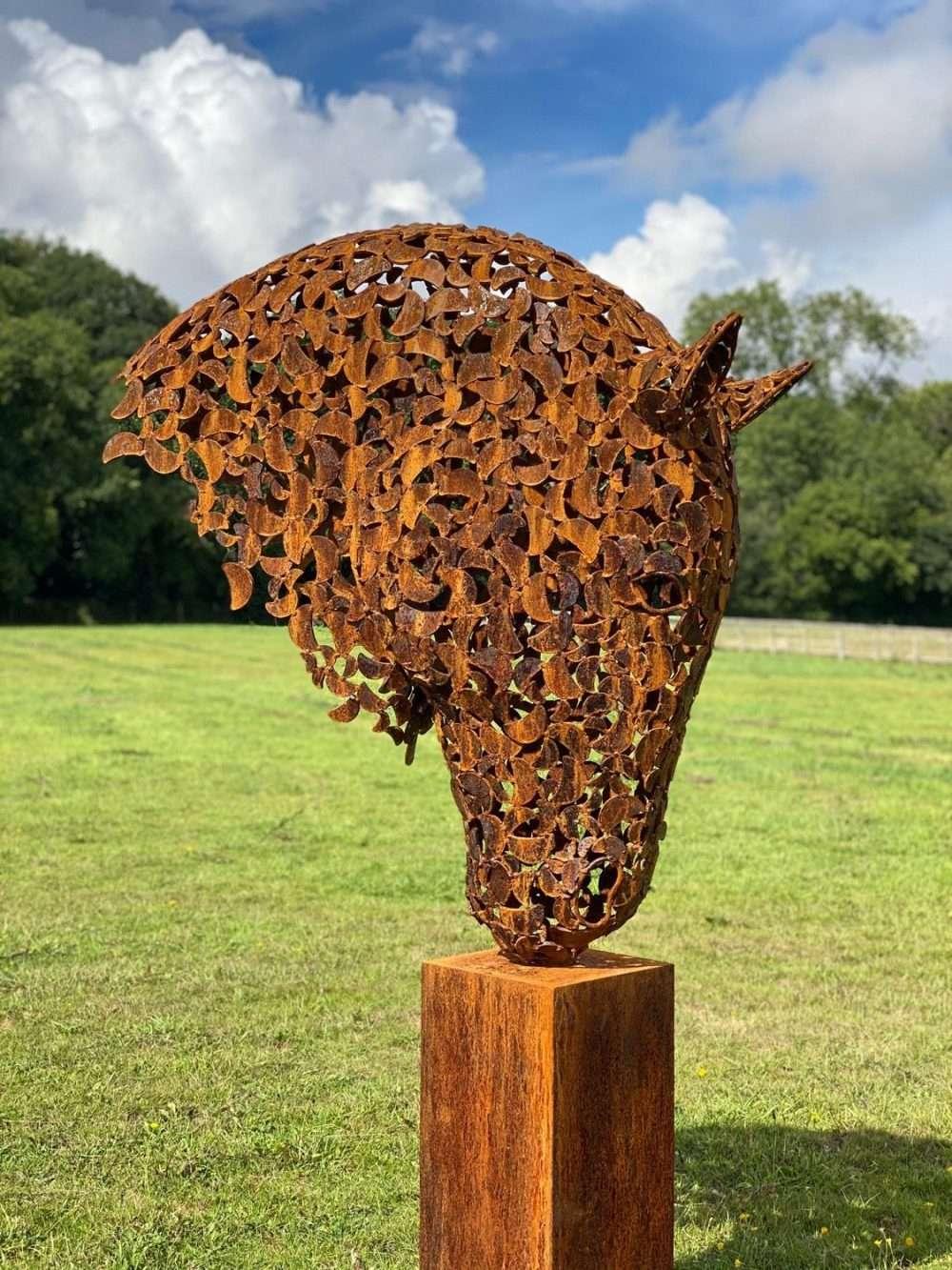Large Rustic Patina Horse Head