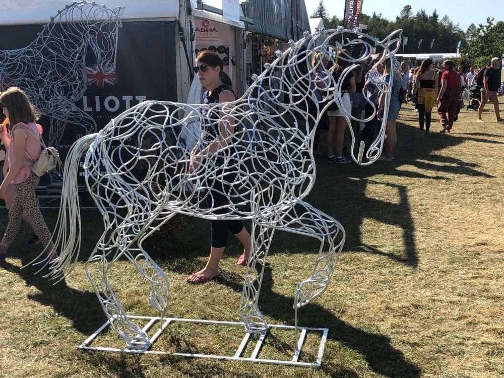 Dressage Horse Sculpture At Festival