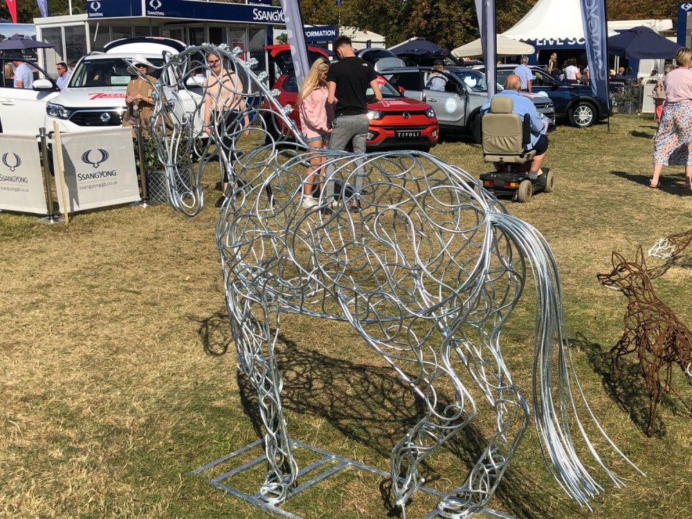 Dressage Horse Sculpture