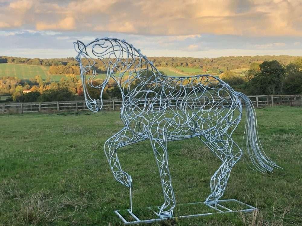 Intricate Dressage Horse Sculpture