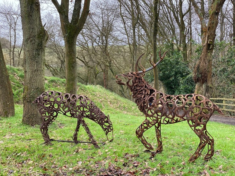 Collection Of Stag and Doe Sculptures