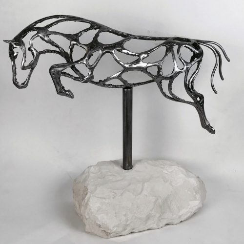 Abstract Jumping Horse Design