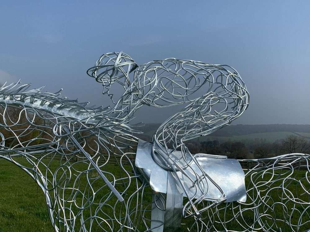 At Full Stretch Horse Sculpture