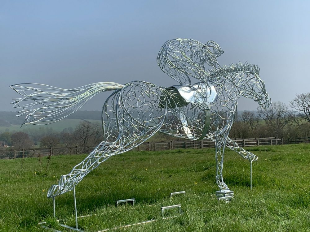 Galvanised Silver At Full Stretch Horse