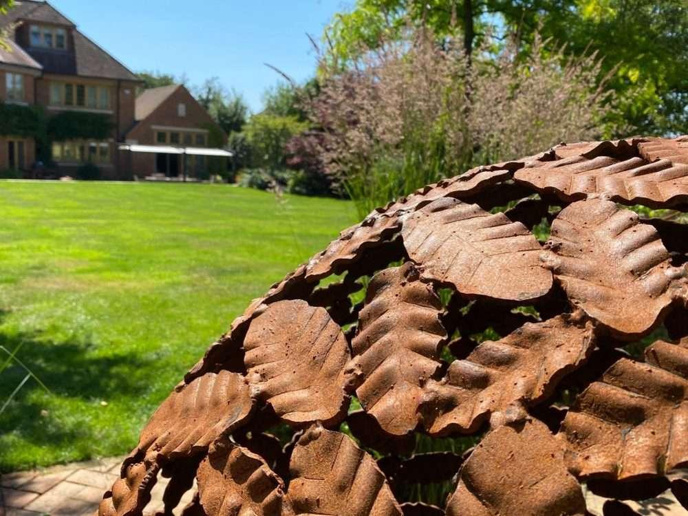 Details Of Beech Leaf Sphere Sculpture