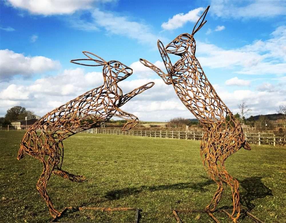 Bronze Rustic Hares