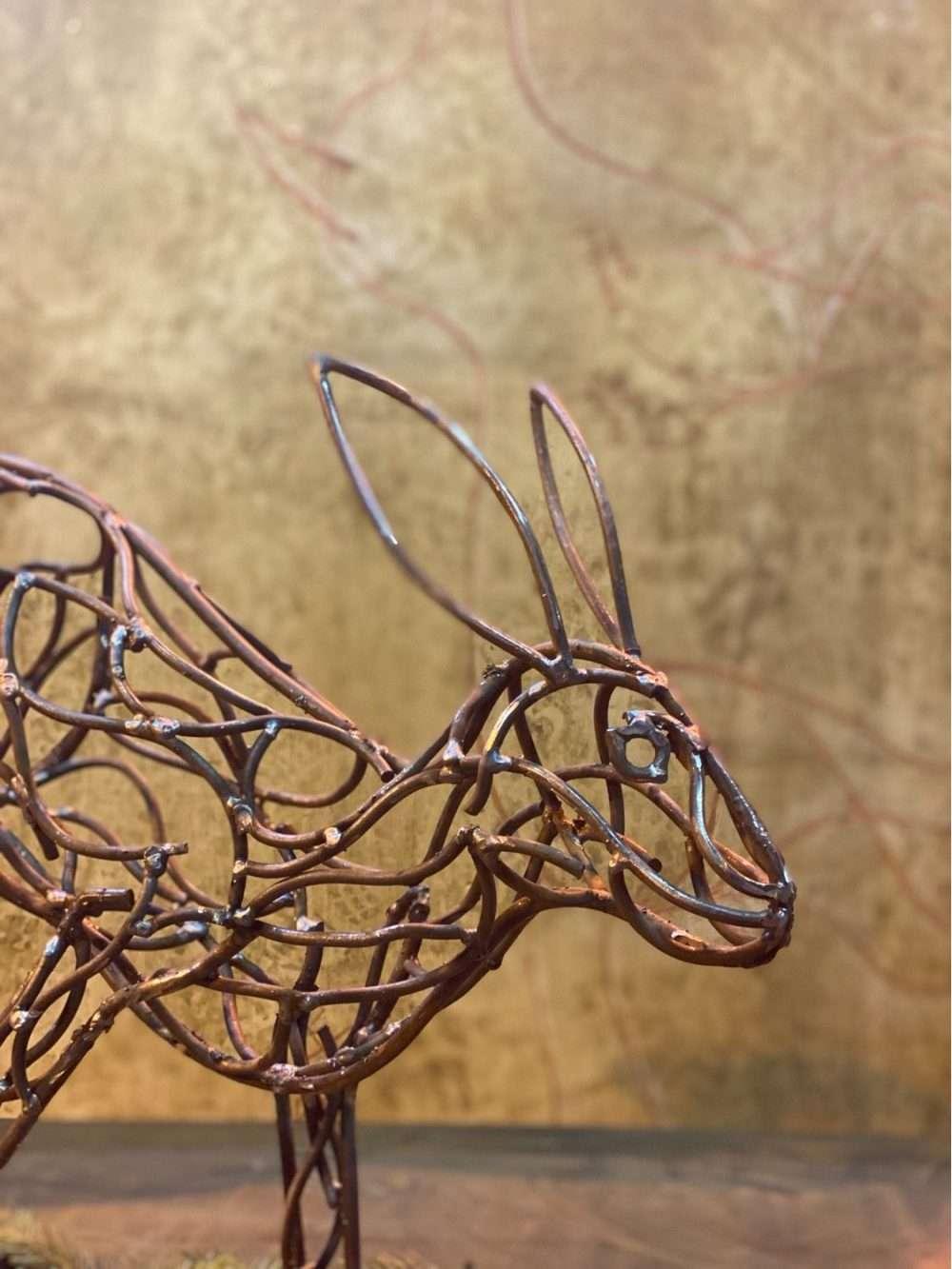 Bronze Bolting Hare Head