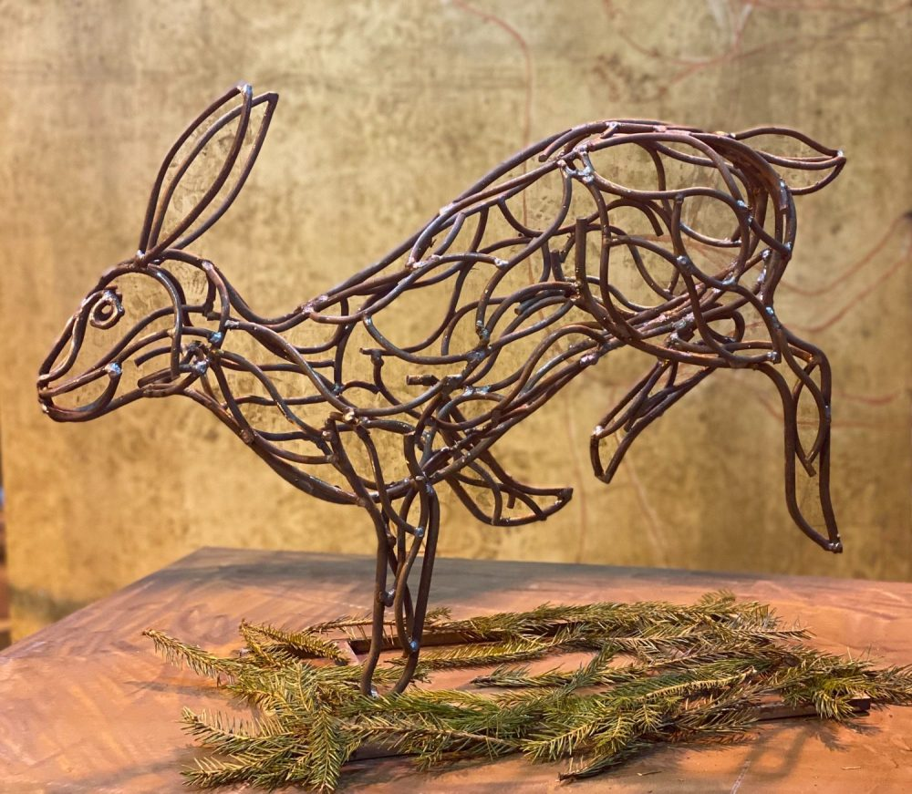 Bolting Hare Sculpture
