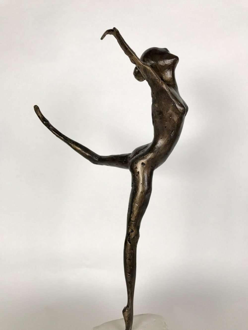 Bronze Coryphee Sculpture In A Gallery