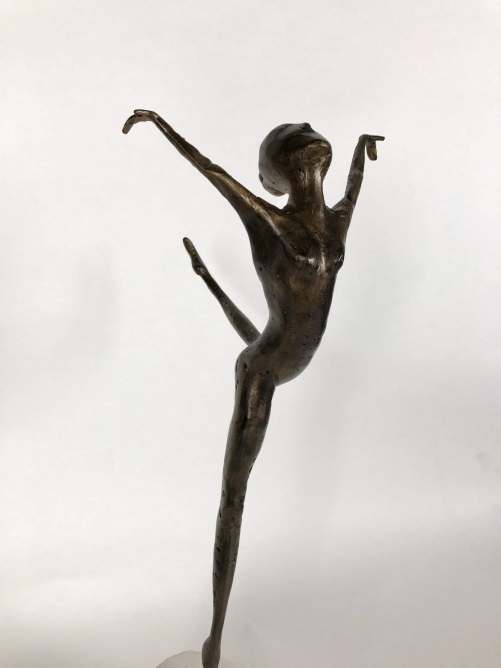 Close Up Of Small Bronze Coryphee Sculpture