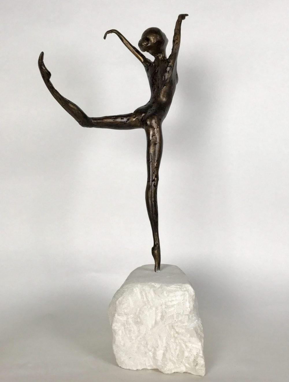 Bronze Coryphee Sculpture against white background