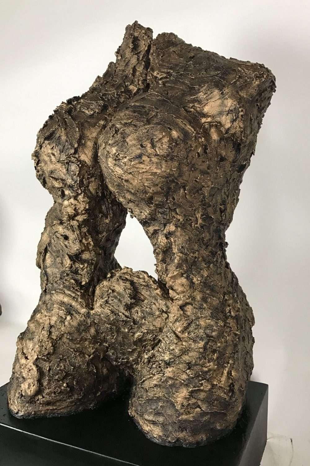 FEMALE TORSO BRONZE SCULPTURE