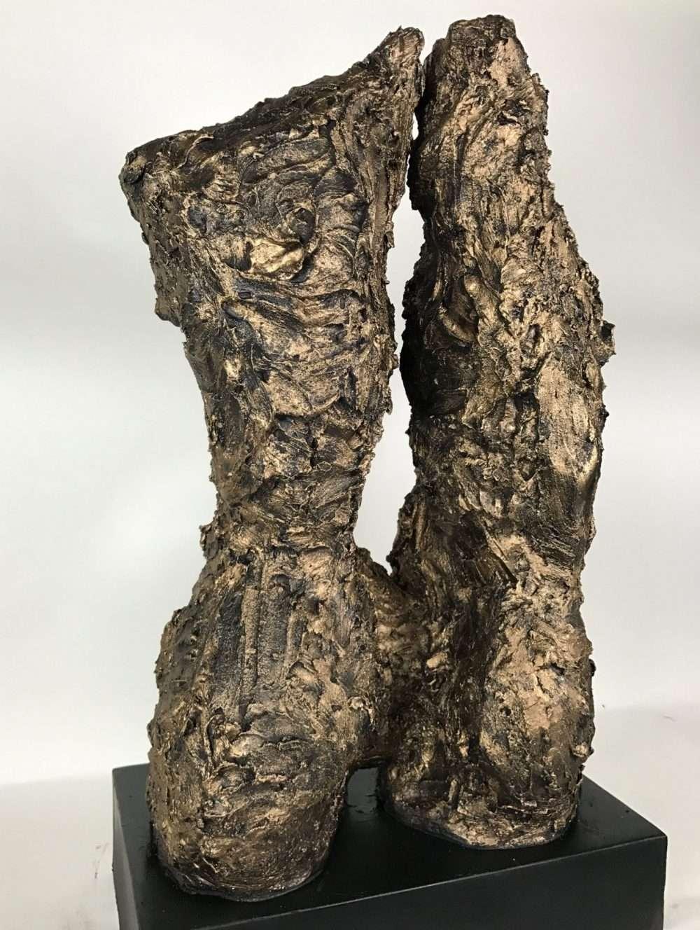 Female Torso Sculpture In Bronze