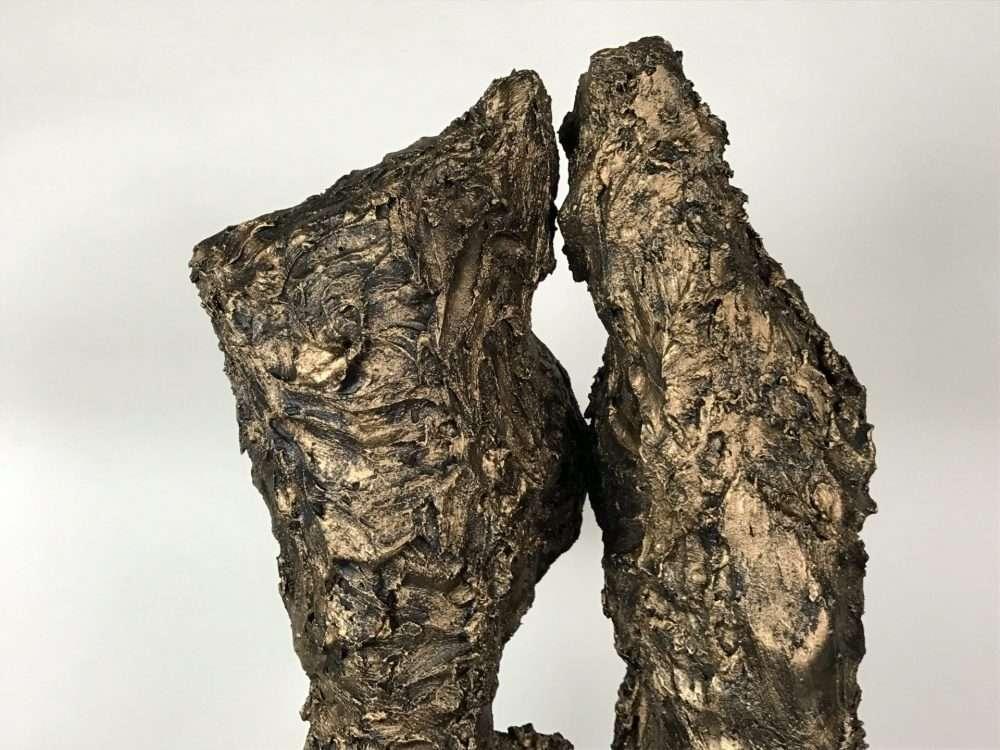 Textured Bronze Female Torso