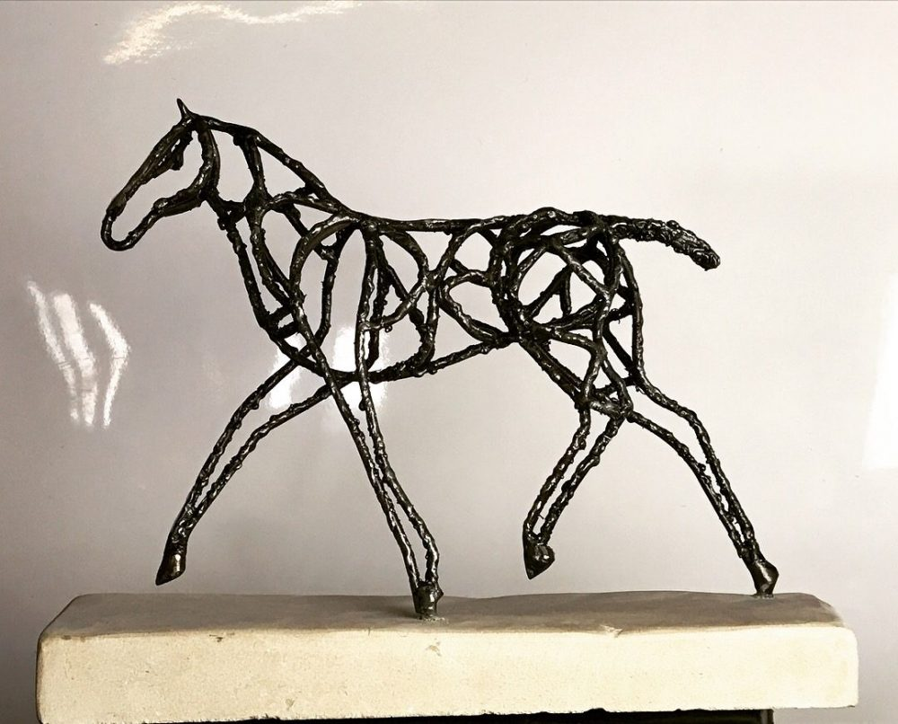 Side View Of Interior Abstract Foal Sculpture